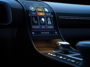 Printed electronics in vehicles